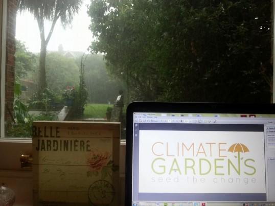 storm in garden
